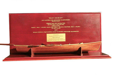 Surf boat trophy